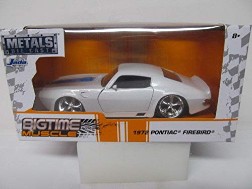 New 1:32 White 1972 Pontiac Firebird Bigtime Muscle Diecast Model Car by Jada