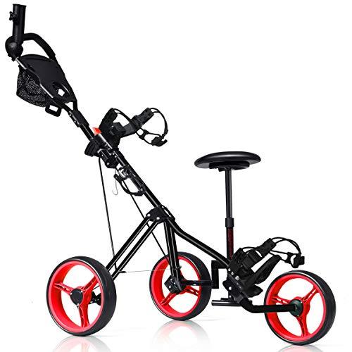 Tangkula Golf Pushcart Swivel