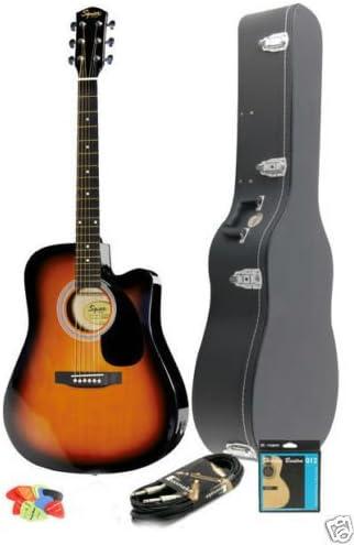 Guitarra Acústica electrificada Fender Squier sa-105ce sunburt + ...