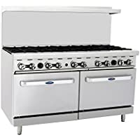 Atosa ATO-10B 60 Gas Range. (10) Open Burners with Two 26 1/2 Wide Ovens