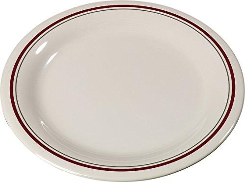 Carlisle 43009903 Durus Narrow Rim Melamine Pie Plate, 6.5