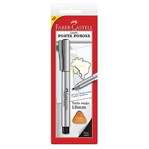 Caneta Ponta Porosa, Faber-Castell, SM/SPBPRZF, Preta