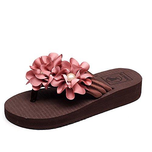 KPHY-Blaumen Flip - Flops Oberbekleidung Coole Schuhe Schuhe Schuhe Reis Weiß Skidproof Steigung Heels Dicken Hintern Sandalen 3ddbb0