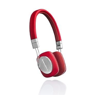 Bowers & Wilkins P3 Headphones Red/Grey