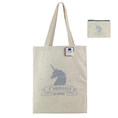 assortie monnaie fille femme Argent porte Tote pochette coton Licorne ou bag et sac XHv4P