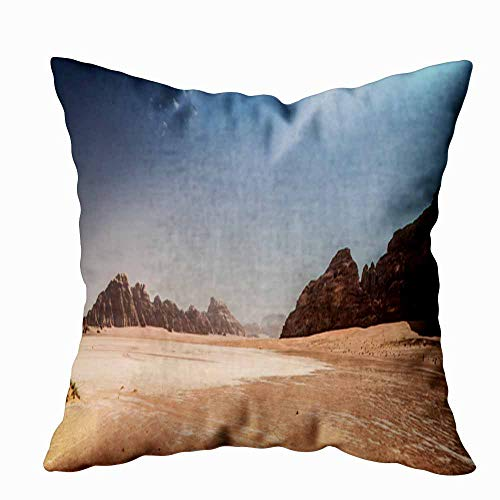 Fullentiart Soft Pillow Covers, Desert of Rum in Known as The Valley Moon and World Heritage List Popular Skin-Friendly Fade Wrinkle Resistant and Easy to Wash 16X16Inches (Best Rum In The World List)