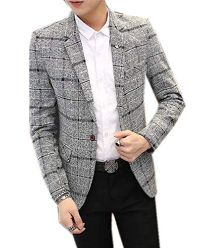 Business Et Everyday Hommes Costume Blazer Tuxedo Fit Slim Retro Grau Mariage T5OOqHfW