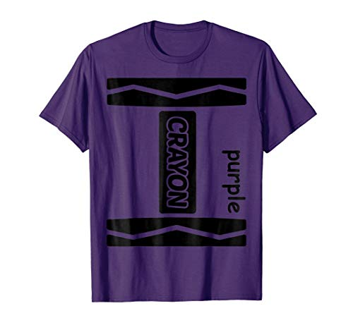 Purple Crayon Couple Friend Group Halloween Costume Shirt -