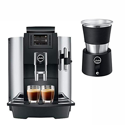 Jura 15145 Automatic Coffee Machine WE8, Chrome with Automatic Milk Frother