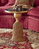 Gorgeous WROUGHT IRON Tassel Table Ornate Victorian Gold Granite