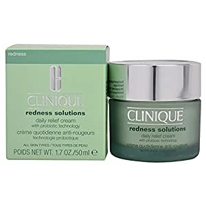 Clinique Redness Solutions, Crema de Alivio con Probiótico, Diaria, 50 ml