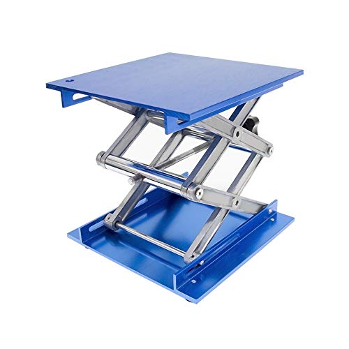 Wisamic 8x8 inch Lab Jack, Aluminium Laboratory Scissor Jack Lift Table, Oxide Lab Lifting Platform Stand ()