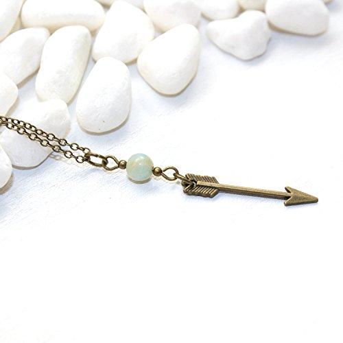 Dainty Arrow Necklace – Delicate Petite Arrow Gemstone Charm Archery Southwestern Handmade Jewelry Gift