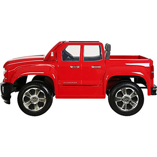 41W0rPsNPVL - Rollplay 12 Volt Chevy Silverado Truck Ride On Toy, Battery-Powered Kid's Ride On Car - Red