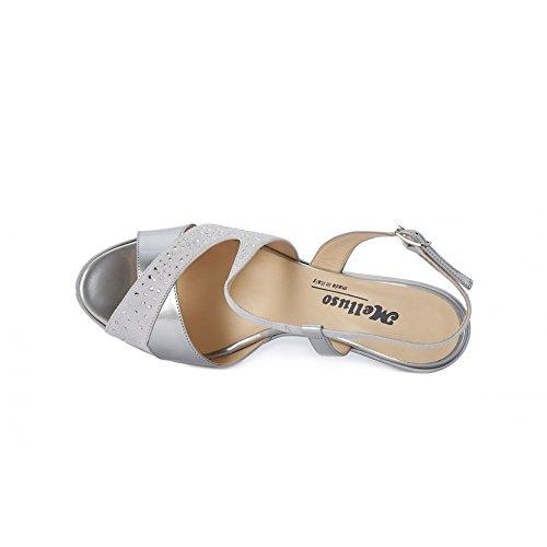 Melluso Satin Sandale - Argent R50109