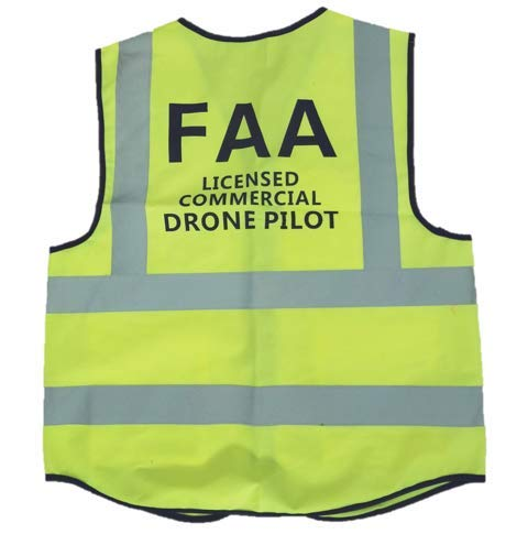 Drone High Visibility Vest/Safety Vest (Size Large)
