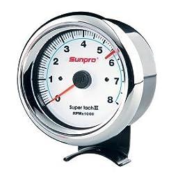 Sunpro CP7903 Super Tachometer II - White Dial