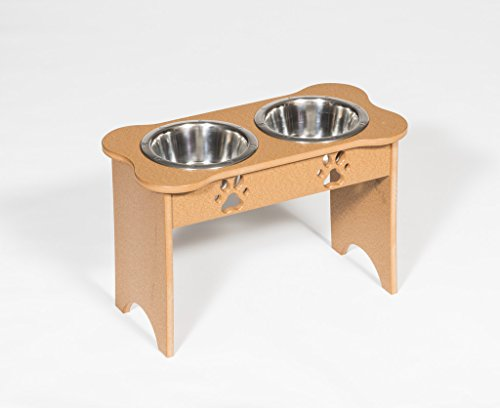 Poly Tall Double Dog Bone Dish 2 Qt Amish Made USA Multiple Color Choices