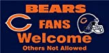 Chicago Bears Wood Sign - Fans Welcome 12''x6''
