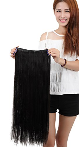 LAY Popular Long Straight 17-30inch(43-76cm) One Piece 5 Clips Clip in Hair Extension Extensios Half Full Head Hair Piece (23