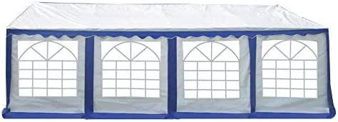 American Phoenix Party Tent 16x26 Canopy Tent Large Heavy Duty White Commercial Fair Shelter Wedding Events Party (White+Blue, 16x26)