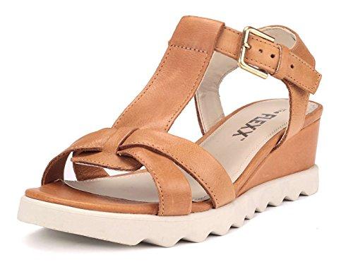 Semelle Litchies Femme The Sandale Compensée Marron Flexx Utwq5qaF
