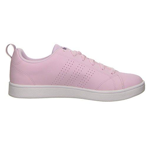 adidas Vs Advantage CL W, Chaussures de Fitness Femme, Weiß, 4.5 EU Rose (Aero Pink S18/aero Pink S18/ftwr White Aero Pink S18/aero Pink S18/ftwr White)