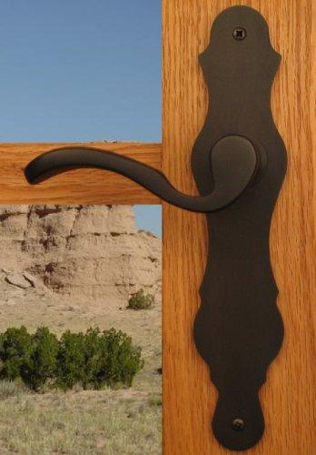 Bedroom Door Lockset Passage Door Lever Santa Fe Hardware for Bedroom Hallway & Closet Doors in Distressed Brass Finish