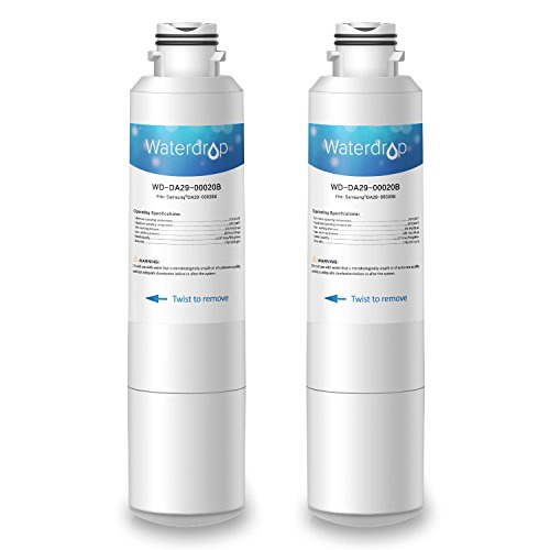 Waterdrop DA29-00020B Refrigerator Water Filter Replacement for Samsung DA29-00020B, DA29-00020A, HAF-CIN/EXP, 46-9101, Standard Series, 2 Pack