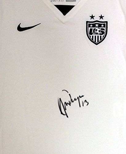 Jersey Autographed Team (Alex Morgan Autographed Team USA White Nike Jersey Size S PSA/DNA)