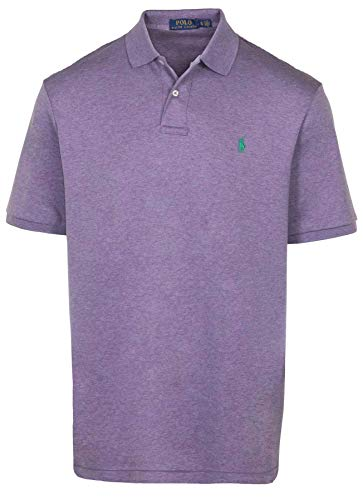 - Polo Ralph Lauren Men's Classic Fit Mesh Polo Shirt (2XL, Purple HTR)