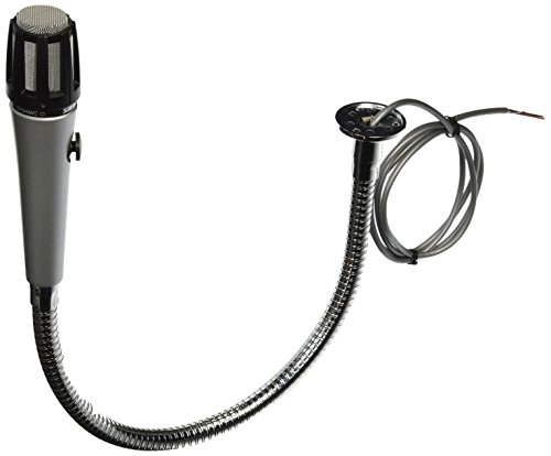 Shure 515SBG-18XF Cardioid Dynamic Low Z Attached 18-Inch Gooseneck, Push-To-Talk Switch, with A12 Flange (Attached Gooseneck)