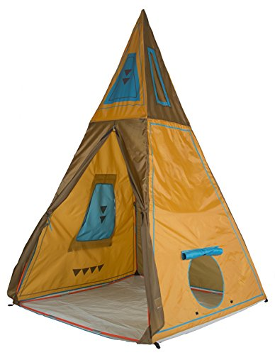 "Pacific Play Tents 30610 Kids Giant Tee Pee Tent Playhouse, 59"" x 59"" x 96"""
