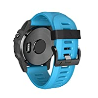 KFSO Watchband For Garmin Fenix 3 HR,Easy Fit 26mm Width Soft Silicone Watch Strap With Screwdriver,220MM