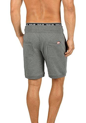solid Grey Al Bermudas Sweat Pantalón Corto 8236 Tacto Suave Bennshorts Melange Hombre Polar Con Para Chándal Forro xSwxARq6gr