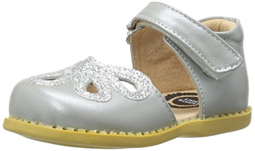 Livie & Luca Petal Mary Jane (Infant/Toddler/Little Kid), Silver/Metallic, 6 M US (Toddler Petal)