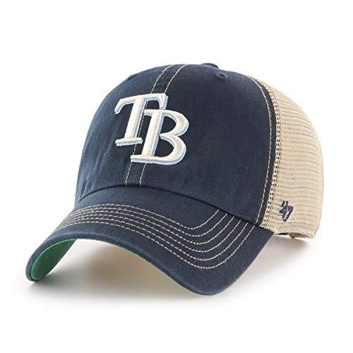 '47 Tampa Bay Rays Trawler Clean Up Adjustable Hat Cap, Snapback Navy - Baseball Bay Cap Tampa