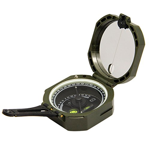 Ueasy Lightweight and Durable Transit Pocket Compass for Surveyors Foresters Military Green by Ueasy