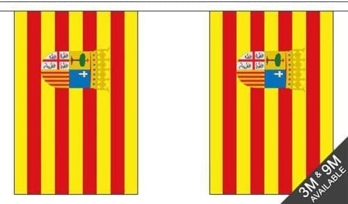 España Andalucía - 6 metros largo, 20 Bandera Banderín + 59mm Botón Insignia: Amazon.es: Jardín