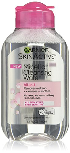 Garnier SkinActive Micellar Cleansing Water, For All Skin Types, Travel Size, 3.4 fl. oz.