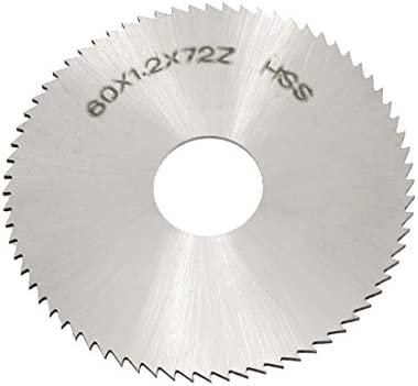 60mmx1.2mm 72 Teeth HSS Circular Slitting Saw Cutter Cutting Tool Black