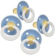 Gerber First Essentials Soft Center Latex Pacifier, 4 Pack - Blue