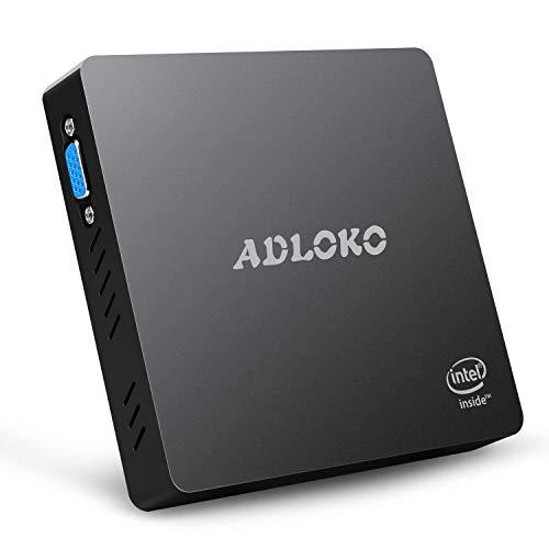MFY Z83 Pro Fanless Mini PC Desktop, Supports Windows 10 Intel Atom x5-Z8350 Quad-Core, 1.44 GHz up to 1.92 GHz, 4GB RAM+64GB storage, WiFi/Bluetooth 4.0, Dual Output - VGA&HDMI