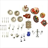 : Melissa & Doug Deluxe Doll-House Dining Room Accessories