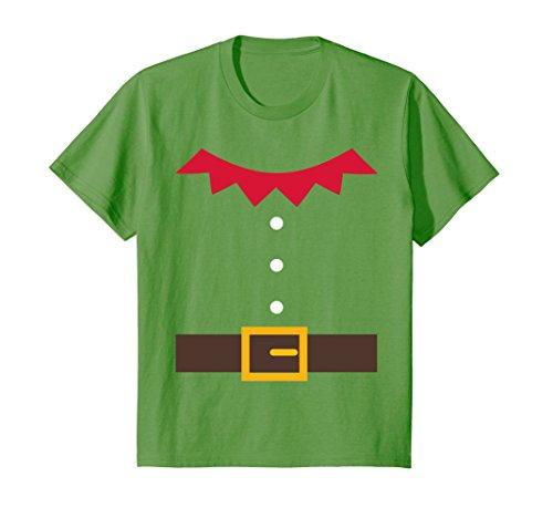 Kids Elf Costume Elf Suit Christmas Holiday Fun T-Shirt 12 Grass - Holiday Costumes Christmas