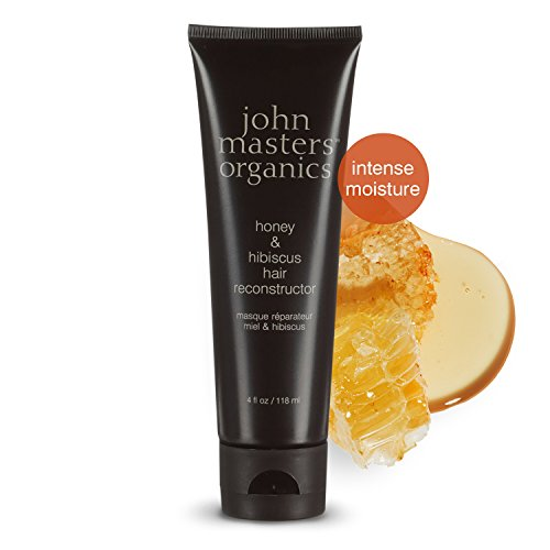 John Masters Organics - Honey & Hibiscus Hair Reconstructor - Intense Conditioner & Moisturizer to Restore & Revitalize Dry or Damaged Hair - 4 oz (Best Reconstructor For Natural Hair)