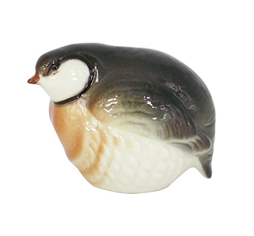 Stone Partridge Red Neck Bird Lomonosov Porcelain Collectible Figurine