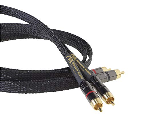 Morrow Audio MA1 RCA Audio Cable Interconnects - with SSI Technology - Unbeatable Resolution and Sound - Audiophile Grade - Digital Ready - 1 Meter Pair (3.3 feet)