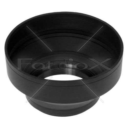 Fotodiox 3-Section Rubber Lens Hood, Sun Shade, 55mm