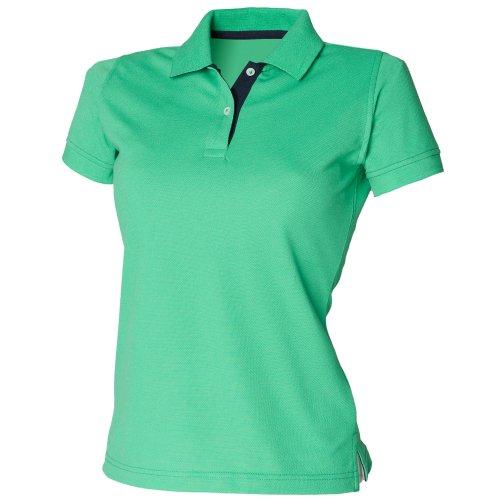 Manica Verde Polo Navy Blu Corta Acceso Henbury Donna 8qTwx4R